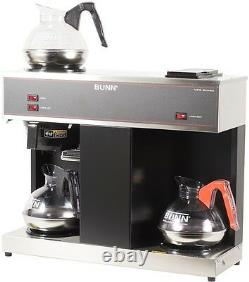 2-Tier Automatic Bunn 12-Cup Coffee Maker Commercial Pourover Brewer w 3 Warmers
