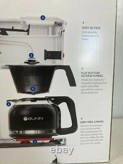 BUNN 10 Cup Speed Brew Classic Coffee Maker. Model GR White