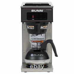 BUNN 13300.0001 VP17-1SS Pourover Coffee Brewer with 1 Warmer Stainless Steel