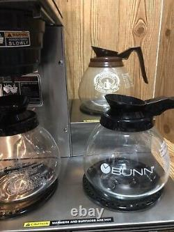 BUNN 3 Burner Commercial Pour Over Coffee Maker Brewer Machine Clean Working