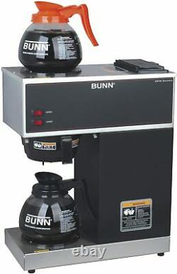 BUNN Bunn 12-Cup Pourover Commercial Coffee Brewer with Warmers 2 Glass Decanters