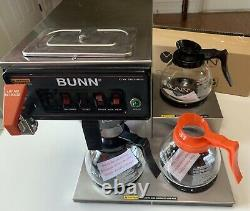 BUNN CWTF15 12950.0212 Commercial Coffee Maker 3 warmers with 3 decanters