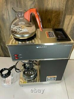 BUNN Pourover Brewer Machine 2 Warmer Commerical Coffee Maker 12 Cup