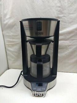 BUNN Stainless Steel Phase Brew Coffee Maker Programmable 10 Cup Glass Carafe