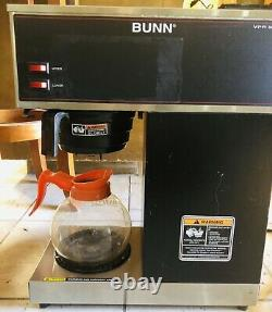 BUNN VPR 12-Cup Commercial Pour-Over Coffee Maker 2 Carafe Capability 2 Warmers