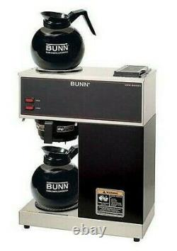 BUNN VPR 12-Cup Commercial Pour-Over Coffee Maker Machine with 2 Glass Carafes