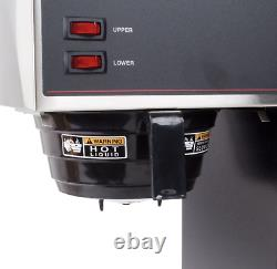 BUNN VPR 12 Cup Pourover Coffee Brewer with 2 Warmers 120V BUNN 33200.0000 Black