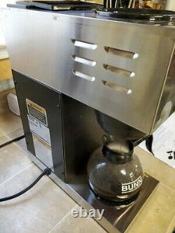 BUNN VPR Series 33200.0000 Black 12 Cups Commercial Coffee Maker Double Warmer