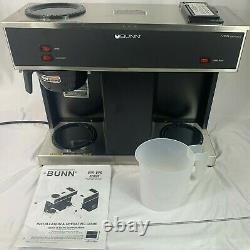 BUNN VPS 12-Cup Pour Over Commercial Coffee Brewer Maker, 3 Warmers, Clean