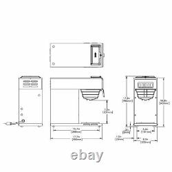 Bunn 13300.0001 VP17-1 12 Cup Pourover Coffee Brewer with 1 Warmer 120v
