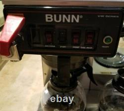 Bunn CWTF35 CW Series 3 Burner Commercial Industrial Coffee Maker + 3 new pots