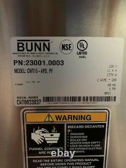 Bunn CW Series CW15APS PF Pour Over Coffee Brewer Airpot Coffee Maker