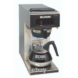 Bunn Coffee Maker 12-Cup Commercial 1-Warmer Drip Type Industrial Stainless Grey