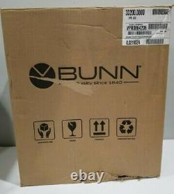 Bunn Commercial Coffee Maker VPR 12 Cup Series 33200.0000 Black New Open Box