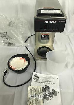 Bunn VP17-1 SS Stainless Steel Pourover Coffee Brewer with 1 Lower Warmer- 120v