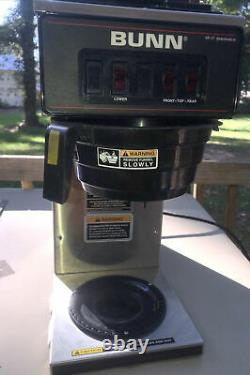 Bunn VP17-3 Pourover Coffee Brewer Works Wells Please See Pictures & Read