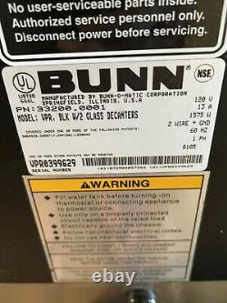 Bunn VPR, BLK 33200-0001 12-Cup Pour-Over 2-Warmer Commercial Coffee Maker