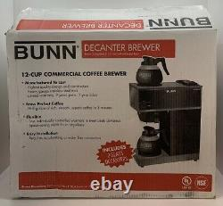 Bunn VPR Series 12-Cup Commercial Coffee Brewer Maker 2-Burner Decanters