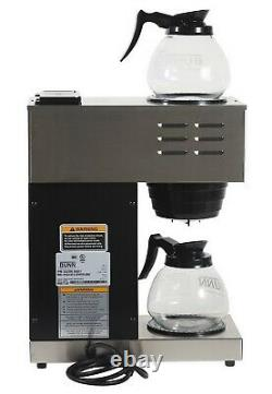 Bunn Vpr 12-cup Commercial Pour-over Coffee Maker With 2 Glass Carafes (new)