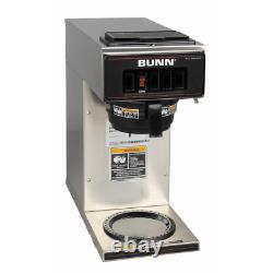 Coffee Maker 12 Cup Commercial 1 Warmer Drip Type Stainless Steel Grey
