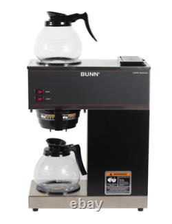 Coffee Maker with 2 Glass Carafes BUNN VPR 12-Cup Commercial Pour-Over Fresh