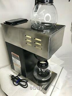 Commercial Bunn VPR Coffee Maker Pot Pourover 2 Pots Filters and Pitcher
