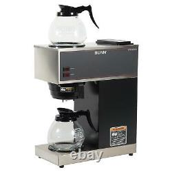 Commercial Coffee Maker 12 Cup Pour-over Brewer Machine 2 Warmer 2 Glass Carafe