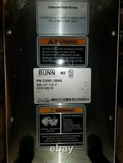 Commercial Coffee Maker, BUNN CWTF-TC DV, PF 23001.0069 CW Series with Filter Bowl
