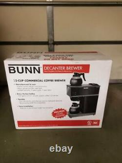 NEW BUNN VPR 12-Cup Commercial Pour-Over Coffee Maker with 2 Glass Carafes