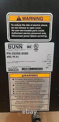 Restaurant Bunn 33200 VPR 12 Cup Commercial Pourover Coffee Maker Tested & Works