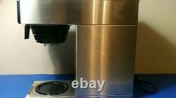Used Bunn 13300.0002 Coffee Maker VP17-2 Stainless (No Coffee Pot) Works Great